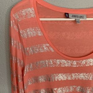 Jennifer Lopez Tops - NWT Jennifer Lopez striped long sleeve